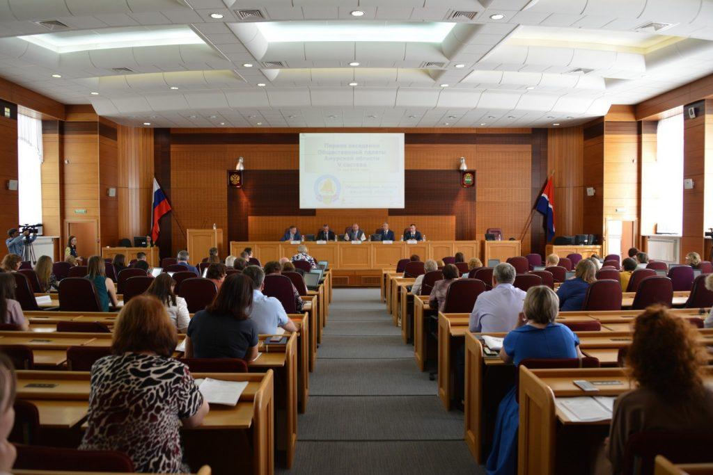 Первое организационное заседание Общественной палаты Амурской области V состава