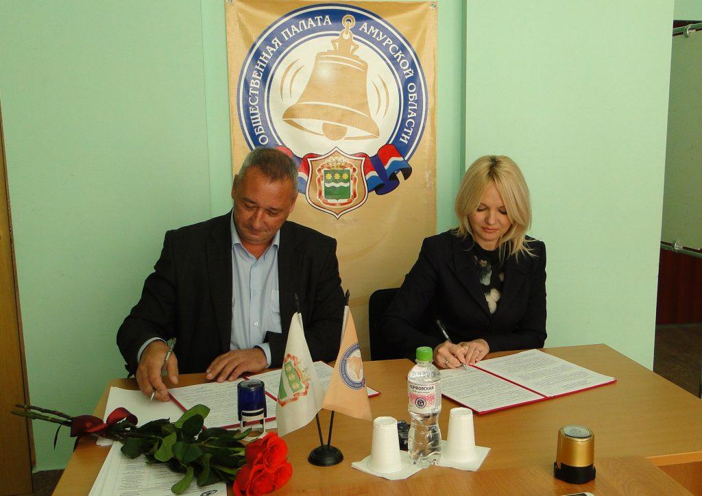 Общественная палата Амурское области подписала соглашение о сотрудничестве с управлением культуры администрации города Благовещенска