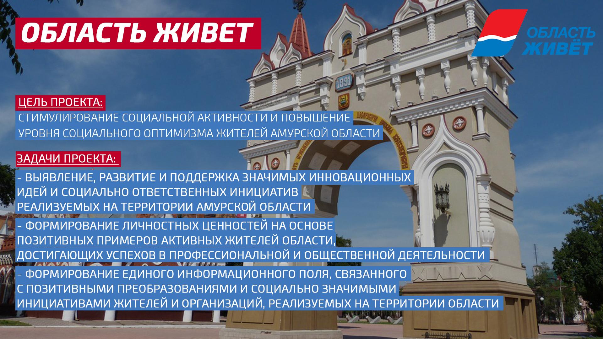 Общественники Амурской области запускают масштабный проект «Область живет»